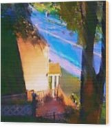 View From My Window On A Summer Afternoon  B-15 Wood Print