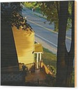 View From My Window On A Summer Afternoon  B-21 Wood Print