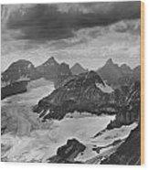 T-303501-bw-view From Quadra Mtn Looking Towards Ten Peaks Wood Print