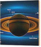 View From Saturn By Nasa's Cassini Spacecraft Wood Print