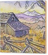 View From Strauss Cabin Road Wood Print