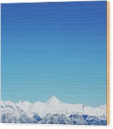 View From Sulphur Mountain Wood Print