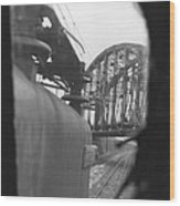 View From The Cab Of A Gg1 Wood Print