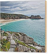 View From The Minack Theatre Wood Print