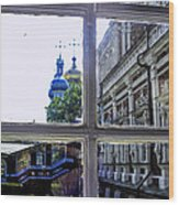 View From The Novodevichy Convent - Russia Wood Print