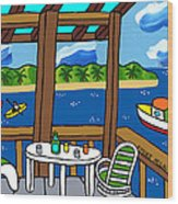 View From The Porch - Cedar Key Wood Print