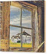 View From The Stable Wood Print