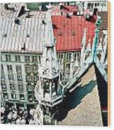 View From The Top Of Munich City Hall Wood Print