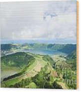 View From The Top Of Sete Cidades Wood Print