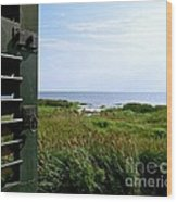 View From The Window At East Point Light Wood Print