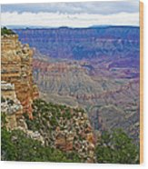 View From Walhalla Overlook On North Rim Of Grand Canyon-arizona  Wood Print