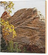View From Zion-mount Carmel Highway In Zion Np-ut Wood Print