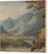 View In Borrowdale Of Eagle Crag And Rosthwaite Wood Print