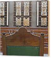 View Into Courtroom From Judges Chair Wood Print