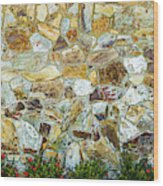 View Of A Stone Wall Wood Print