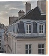 View Of Apartments On Rue Beauregard Wood Print