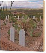 View Of Arizona From Boothill Cemetery Wood Print