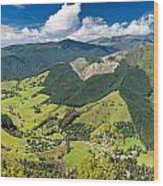 View Of Arthur Range In Kahurangi Np Of New Zealand Wood Print