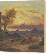 View Of Constantinople Wood Print