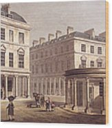 View Of Cross Bath, Bath Street Wood Print