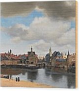 View Of Delft Wood Print by Johannes Vermeer