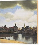 View Of Delft Vermeer Wood Print