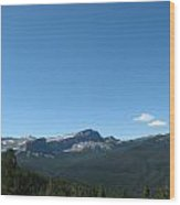 View Of Flint Mountain Wide View Wood Print