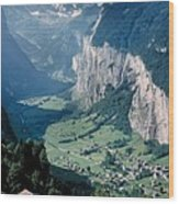 Amazing View Of Swiss Valley Wood Print