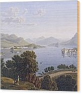 View Of Lake Maggiore And The Borromean Wood Print