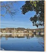 View Of Lambertville Nj From New Hope Pa-winter 1  Wood Print
