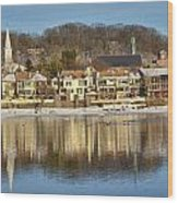 View Of Lambertville Nj From New Hope Pa-winter 2  Wood Print