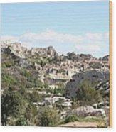 View Of Les Baux De Provence Wood Print