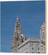 View Of Liverpool Waterfront Wood Print
