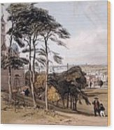 View Of London From Greenwich Park, 1842 Wood Print