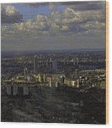 view of London within the Clouds Wood Print
