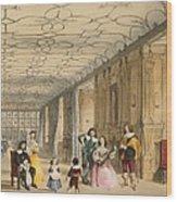 View Of Long Hall At Haddon Wood Print by Joseph Nash