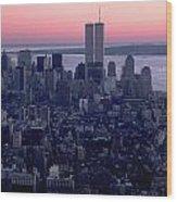 View Of Lower Manhattan Wood Print