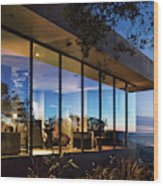 View Of Luxurious Resort At Dusk Wood Print
