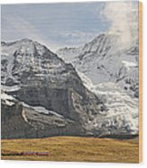 View Of Mt Eiger And Mt Monch, Kleine Wood Print