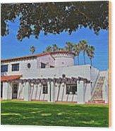 View Of Ole Hanson Beach Club San Clemente Wood Print
