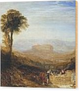 View Of Orvieto Wood Print
