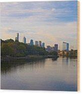 View Of Philadelphia From The Girard Avenue Bridge Wood Print