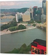 View Of Pittsburgh From Mt. Washington Wood Print