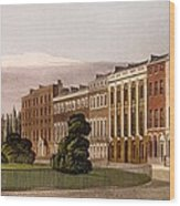 View Of Portman Square, North Side, 1816 Wood Print