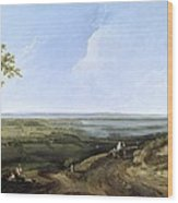 View Of Portsmouth From Portsdown Hill Wood Print