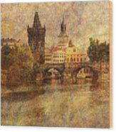 View Of Prague Wood Print