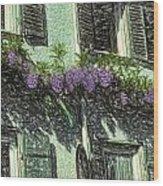 View Of Purple Wood Print