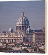 View Of Rome 2013 Wood Print