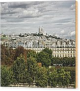 View Of Sacre Coeur From The Musee D'orsay Wood Print