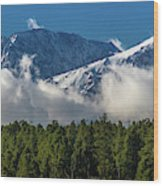 View Of San Juan Mountains With Clouds Wood Print